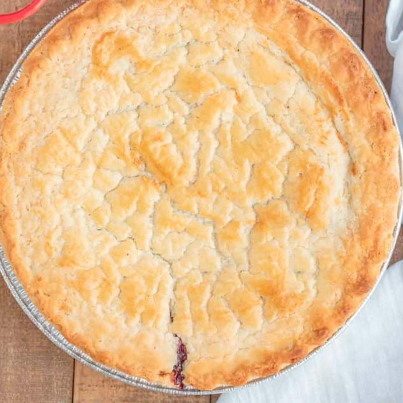 Large Apple & Raspberry Pie
